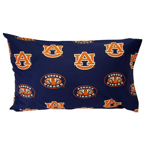 (Auburn Printed Pillow Case - (Set of 2) - Solid by College Covers )