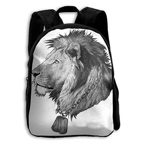 Sad Lion Kid Boys Girls Toddler Pre School Backpack Bags (Sad Dogs In Costumes)