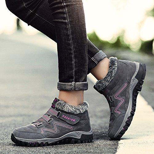 Zapatillas Senderismo Outdoor Trekking Montaña Zaone de Mujer Gris Botas fwTdx
