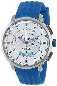 Versus by Versace Men's SGV030013 Manhattan Blue Rubber Chronograph Tachymeter Date Watch