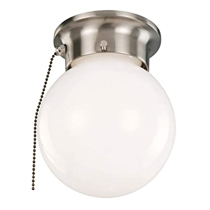 design house 519272 1 light ceiling light with pull chain satin