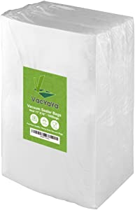 VacYaYa 4mil 100 Gallon Size 11 x 16 Inch Food Saver Vacuum Sealer Freezer Storage Bags for Food Saver,Vac Seal a Meal Bags with BPA Free and Commercial Grade Sous Vide Vaccume Seal Safe PreCut Bag