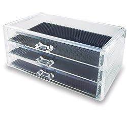 """Generic Acrylic Jewelry & Cosmetic Storage Display Box, 9 3/8 x 5 3/8 x 4 3/8"""""""