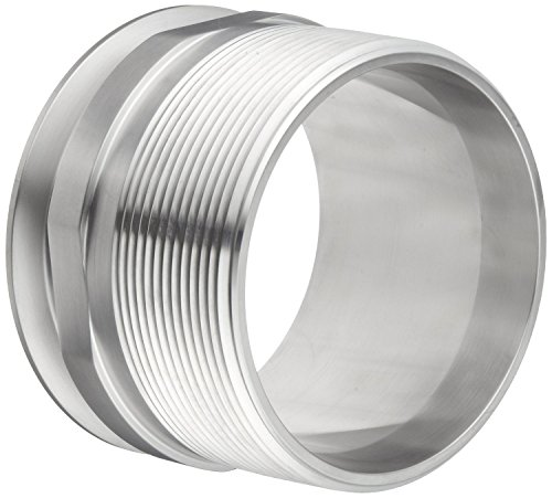 Dixon 21MP-G400 Stainless Steel 304 Sanitary Fitting, Clamp Adapter, 4'' Tube OD x 4'' NPT Male by Dixon Valve & Coupling