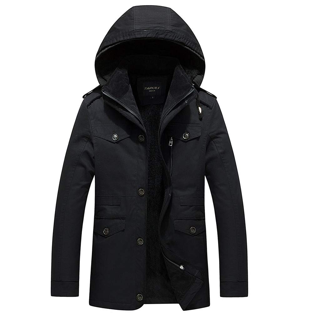 Pandaie-Mens Product Big and Tall Winter Jackets for Men,Cashmere Thickening Men's Medium Length Coat
