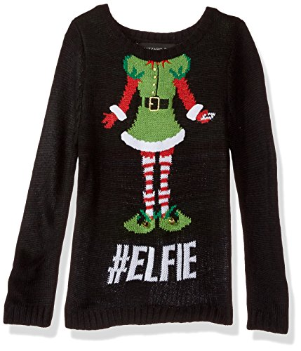 Girls' Little Elfie Christmas Sweater