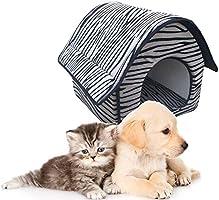 Casa para Mascotas Desmontable Cama para Perro Pequeño y Gatos Mascota Antideslizante Suave Calentar con Cojín Extraíble
