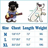 FanQube Teddy Dog Halloween Costume Cute Funny Pet Guitar Player Dress Up Party Clothes, M