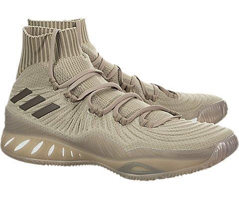 adidas Crazy Explosive 2017 Primeknit Shoe Men's Basketball 10 Trace Khaki-Cargo Brown-Linen Khaki