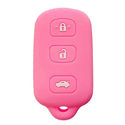 Rpkey Silicone Keyless Entry Remote Control Key Fob Cover Case protector For Toyota Avalon Lexus ES300 LS400 SC300 SC400 89742-AC050 89742-AC020 89742-33100 89742-50510 HYQ12BAN(Pink): Automotive
