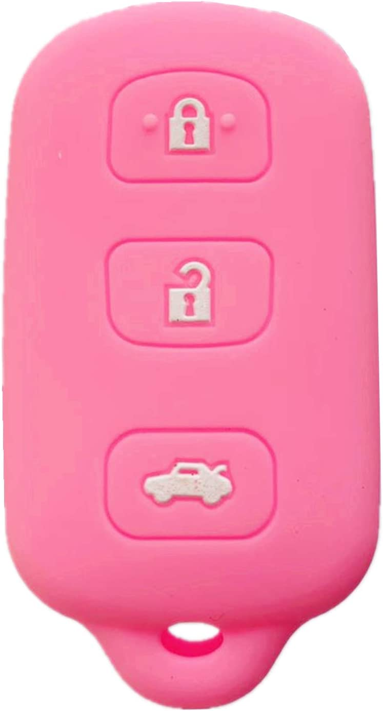 Rpkey Silicone Keyless Entry Remote Control Key Fob Cover Case protector For Toyota Avalon Lexus ES300 LS400 SC300 SC400 89742-AC050 89742-AC020 89742-33100 89742-50510 HYQ12BAN Pink