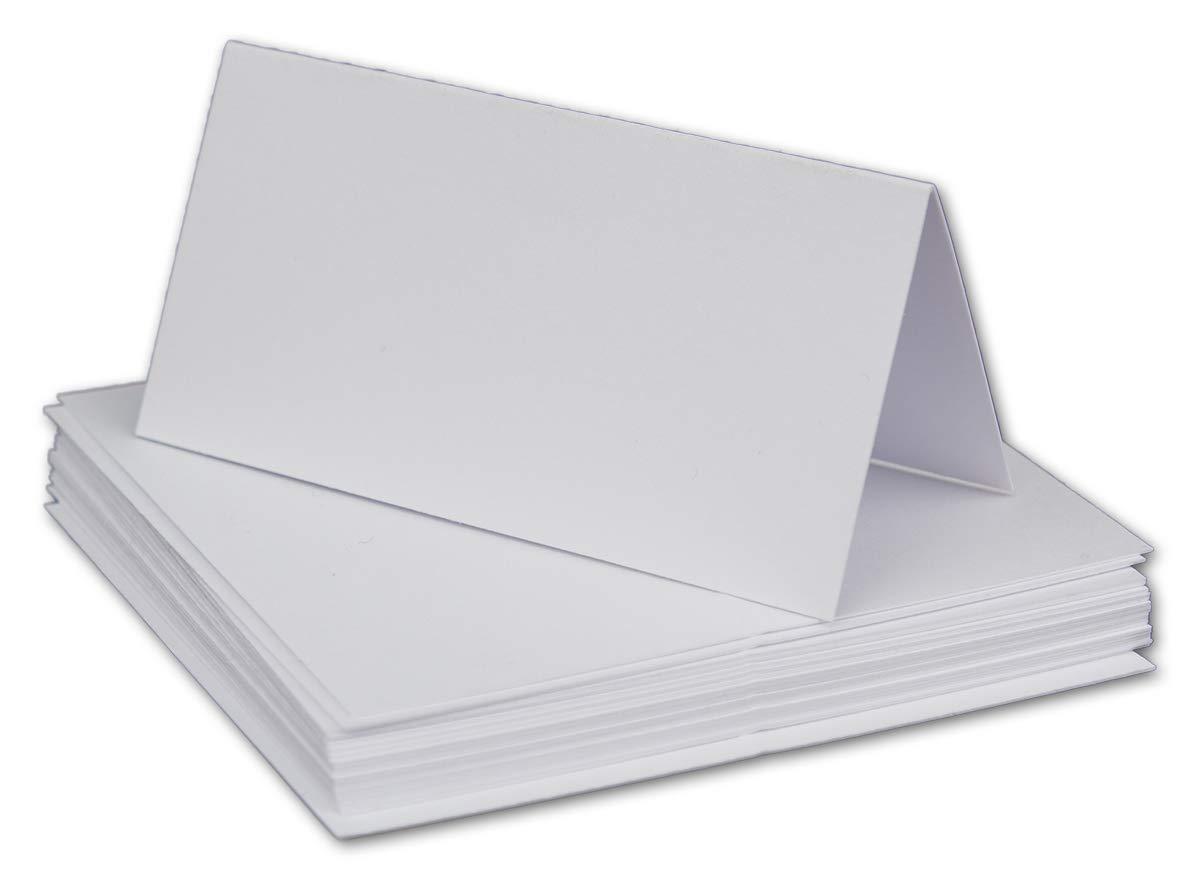 100 Kleine wei/ße neutrale universale Stabile Einfarbige Blanko Tischkarten 8x4 cm Namens-Schilder Sitzkarten Platzkarten Preisschilder Tisch-Aufsteller mit JEDEM Stift beschreibbar