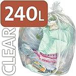 Alina, sacchetto nero, resistente, da 240 litri per bidone della spazzatura con ruote, sacco compattatore di rifiuti… 51G4W