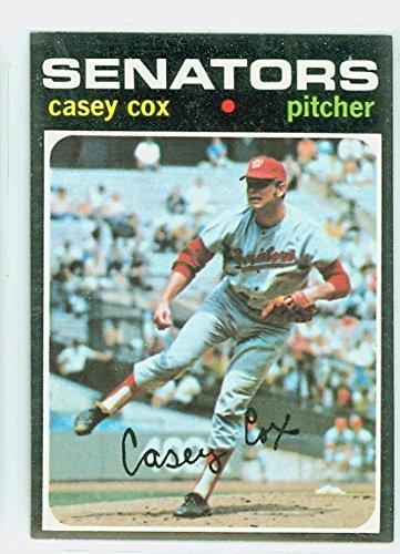 1971 Topps Baseball (1971 Topps Baseball 82 Casey Cox Washington Senators Excellent to Mint)