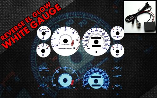 Brand New White Face Blue Indigo Reverse Glow Gauges For 94-97 Dodge Ram 1500/2500/3500 (I-110)