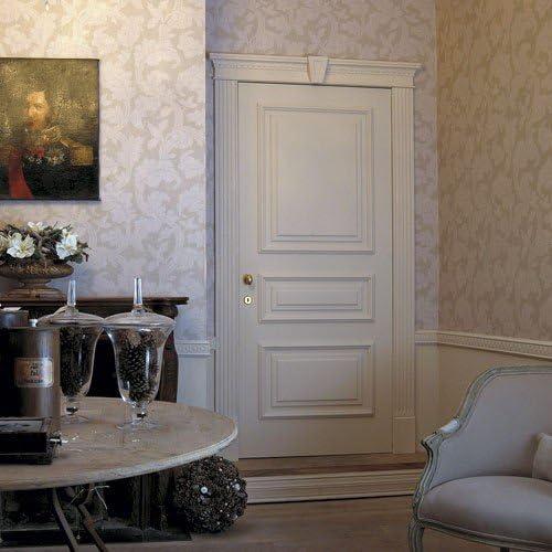 Fronton Habillage de porte El/ément Orac Decor D402 LUXXUS d/écoratif classique Profil de stuc blanc