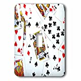 3dRose lsp_112896_1 Scattered Playing Cards Photo - for Card Game Players Eg Poker Bridge Games Casino Las Vegas Night - Single Toggle Switch