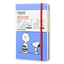 Moleskine 2016 Peanuts Limited Edition Daily Planner, 12M, Large, Blue, Hard Cover (5 x 8.25)