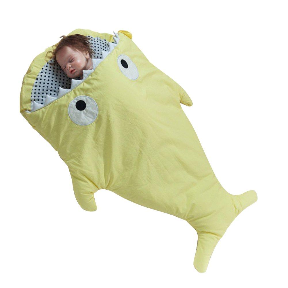 Hot Seal Funny Shark Bitesベビーかわいいバッグ新生児Sacks Swaddlingブランケット肌に優しくSlumber Bag イエロー US-KK-SD-Yellow B07596TT1K イエロー イエロー