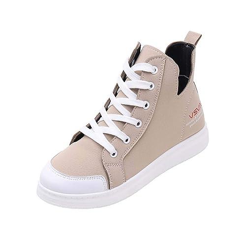 LHWY Zapatillas Mocasines de Deportes Zapatos de Lona de Las señoras de la Moda de la Moda con Cordones Redondos Planos de la Zapatilla de Deporte del ...