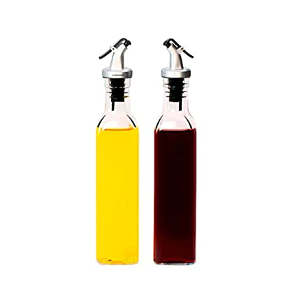 YQQST Dispensador de aceite de oliva, botella de aceite de oliva, aceite, vinagre