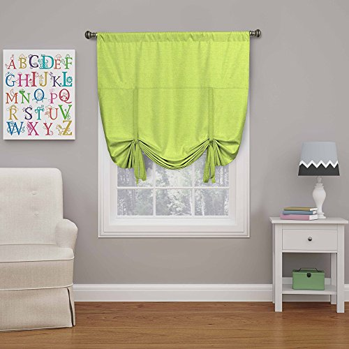 Eclipse 16170042X063LIM Kendall 42-Inch by 63-Inch Blackout Window Single Tie-up Shade, Lime