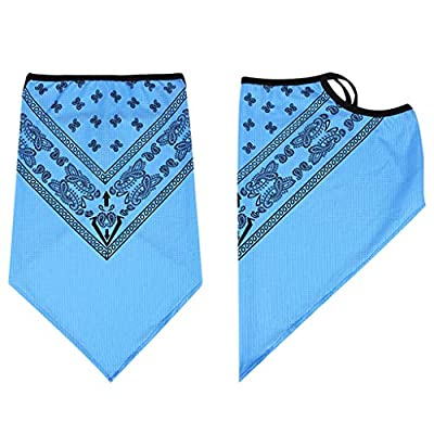 Face Scarf Bandana Ear Loops Face Rave Balaclava Men Women Neck Gaiters for Dust Wind Motorcycle Cover Blue at  Women's Clothing store