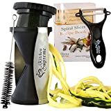 Spiral Slicer Spiralizer Complete Bundle - Best Vegetable Spiralizer and Cutter - Zucchini Pasta Noodle Spaghetti Maker