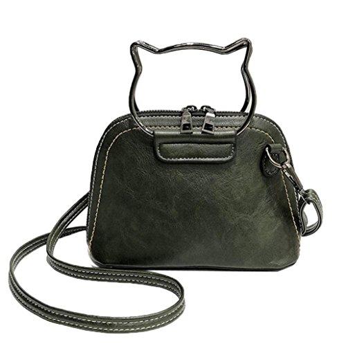 Handbag Women Satchel Handbags Shoulder for for Women Women Body Cross Cat Girls Bag Purses Tote Green Morwind 7p74Zq