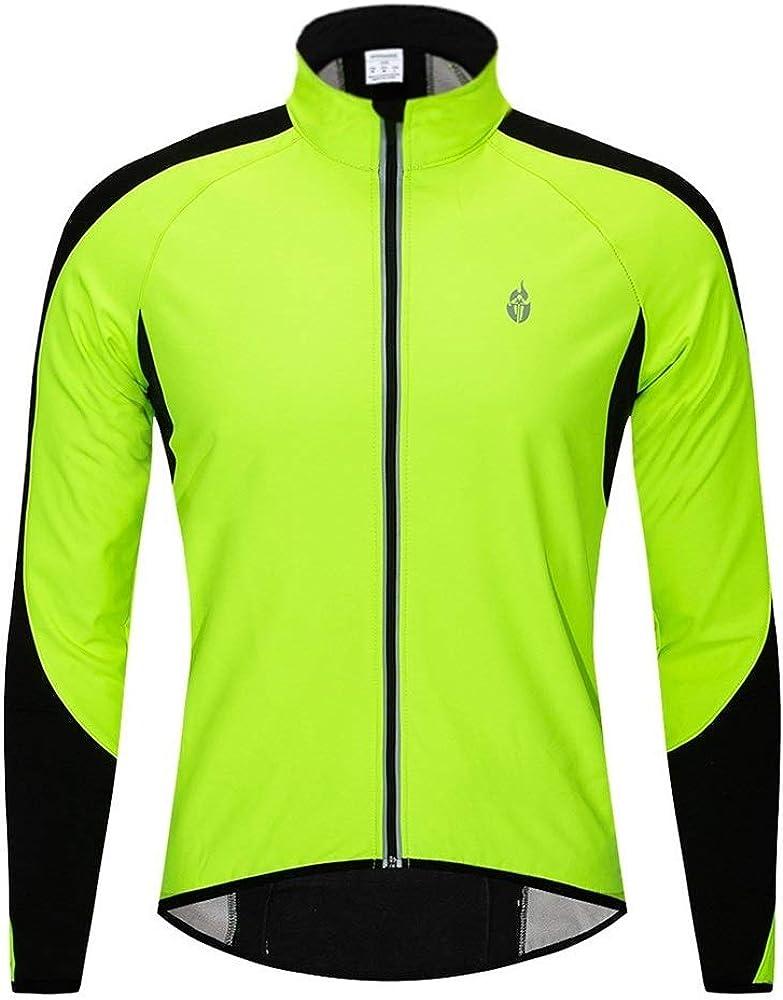 HENGMANHONG Autumn and Winter Fleece Jersey Bicycle Warm Riding Long-Sleeved Shirt Mountain Bike Clothing