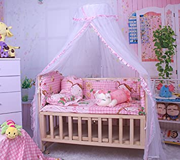 CdyBox Breathable Baby Bed Canopy Toddler Sleeping Dome Mosquito Net Crib  Netting Palace Style Lace