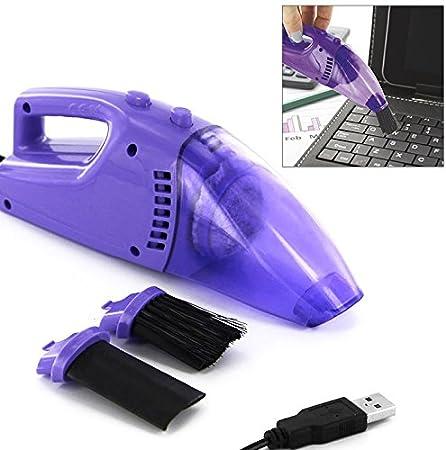 Aspirador por USB para limpiar teclado, pc, pantalla, color morado: Amazon.es: Hogar