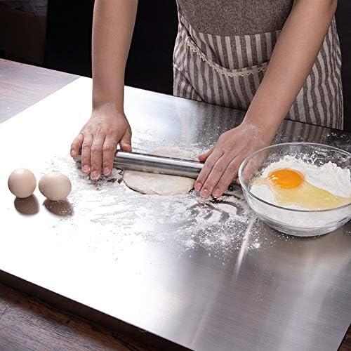 DRSPD 1PCSステンレスフォンダン麺棒パン生地ピザピザキッチンベーキング原料粘土ませケーキスティックアクセサリーローリングピン (Color : Dark Khaki, Size : 27.5x2.8 cm)