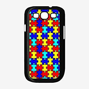 Autism Puzzle Pieces Plastic Phone Case Back Cover Samsung Galaxy S3 I9300