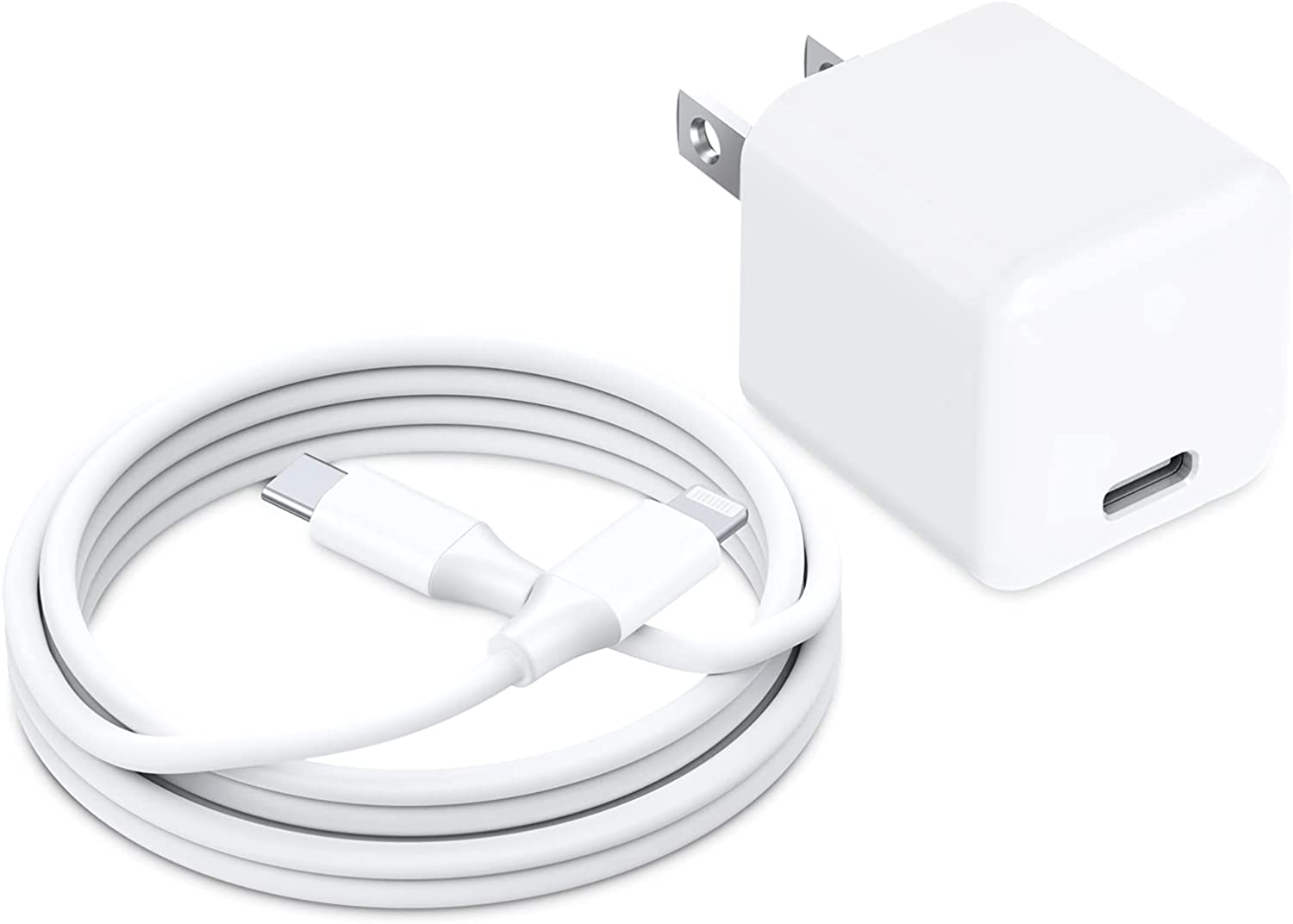 iPhone Fast Charger, FEGO 20W USB C Power Adapter Fast Charger with 6ft [Apple MFi Certified] Cable for for iPhone 12/12 Pro/12 Pro Max/12 Mini/11 Pro Max/XS Max/XR/X/,iPad Pro,AirPods Pro and More