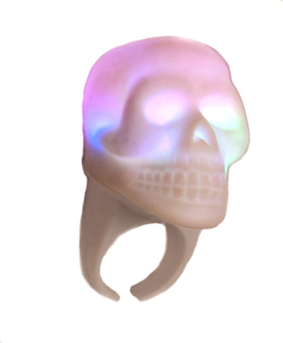 WeGlow International Light Up Skull Ring, Pack of 6
