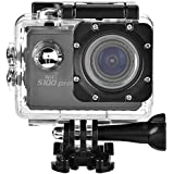 Acouto S100 Action Camera 20M 4K Wifi Waterproof Sports Cam Option Wide Angle(70°-170°) with 4 Adapter Bracket and Waterproof Accessories Kits (Black)