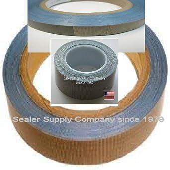 "1//2/"" x 18 Yd x 10mil Teflon PTFE Adhesive tape Impulse Seal Shrink Wrap Printing"