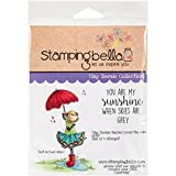 rain stamp - Stamping Bella Tiny Townie Rachel Loves the Rain Cling Stamp, 6.5