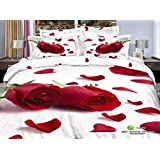 Amazon Price History for:3D Oil Red Rose Wedding Bedding Sets,(1PC Duvet Cover,1PC Bed Sheet,2PC PillowCase ),100% Cotton King Queen Size Red Rose Girls Duvet Cover 4PC,Queen/Full Size