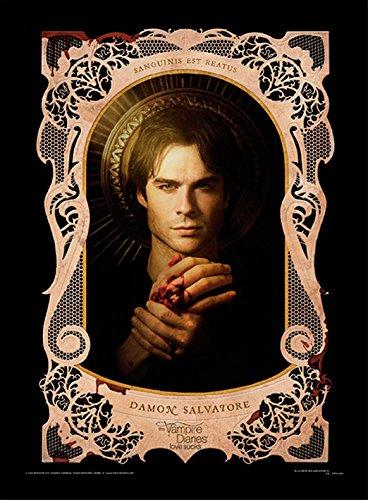 Vampire Diaries Damon Salvatore Stampa con Cornice,, 30x 40cm Pyramid International FP10631P-PL