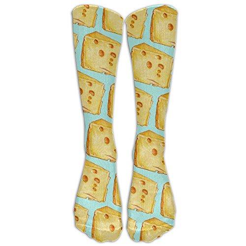 I Love Cheese Popluar Long Socks Women & Men Warmer High Socks For Sports Gym Running Hiking Travel Home Stockings 78 Bolivian Finish