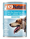 K9 Natural Canned Dog Food Supplement Booster Perfect Grain Free, Healthy, Hypoallergenic Limited Ingredients Dogs - Wet Dog Supplement - 100% Beef Green Tripe - 13 oz (12 Pack)