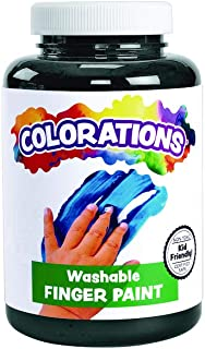product image for Colorations Washable Finger Paints, Black, Non-Toxic, Creamy, Vibrant, Kids Paint, Craft, Hobby, Fun, Art Supplies, Young Kids, Finger Painting, Hand Painting, 16 oz.
