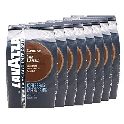 Lavazza Coffee Grand Espresso, Whole Beans, Pack of 8, 8 x 1000g