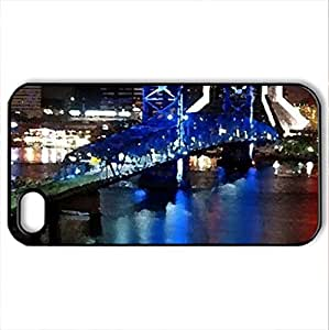 USA - Case Cover for iPhone 4 and 4s (Bridges Series, Watercolor style, Black)