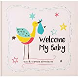 Baby Memory Book & Baby Journal for Boy & Girl by KiddyByte: Unisex Photo Album for First 3 Years Adventures & Milestones, Perfect Gift & Keepsake for New Moms