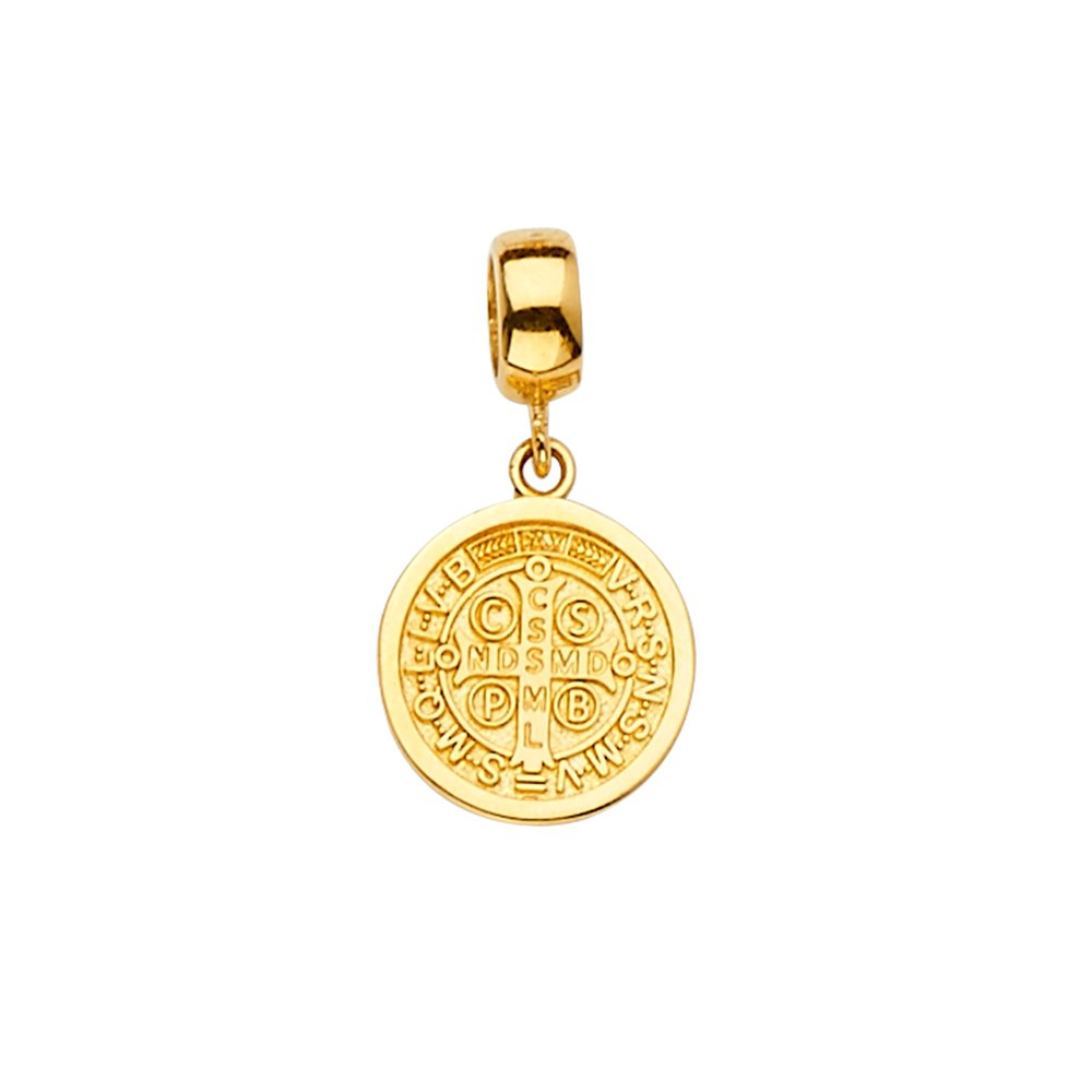 Size : 20 x 12 mm GoldenMine 14k Yellow Gold San Benito Charm for Mix/&Match Bracelet