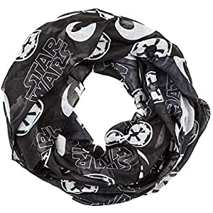 Star Wars Toss Icons Infinity Viscose Scarf,Black/White,One Size