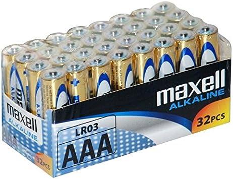 Maxell LR03 - Pilas AAA, 32 unidades: Amazon.es: Electrónica